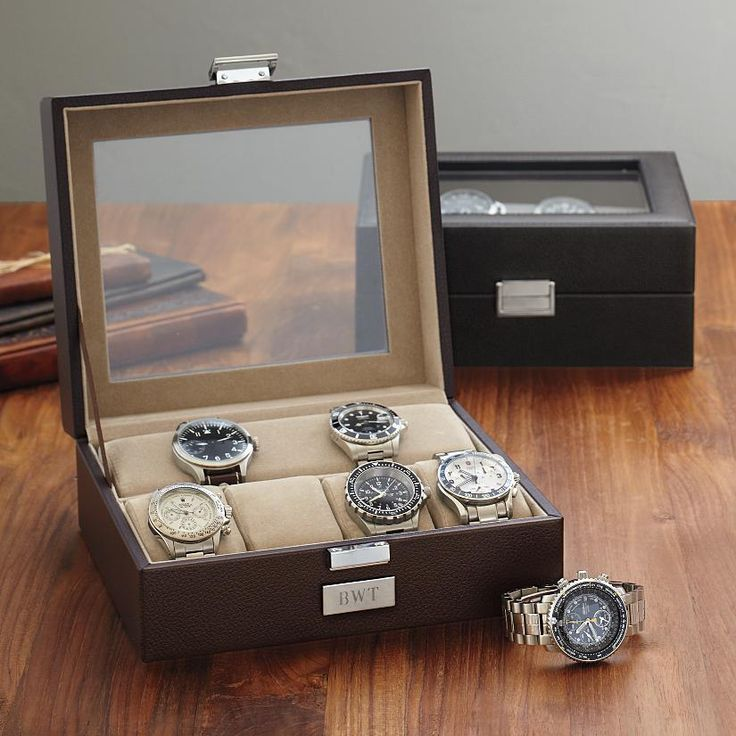 leather watch case, perfect grooms party gift.