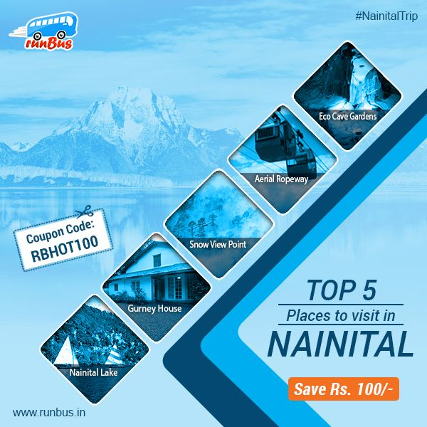Here is top 5 places to visit in #Nainital !! Book Delhi to Nainital online #BusTicket at #runBus and get Rs. 100/- flat off with using coupon code RBHOT100  #BusTickets #OnlineBusTickets #runBusOffer #TripToNainital