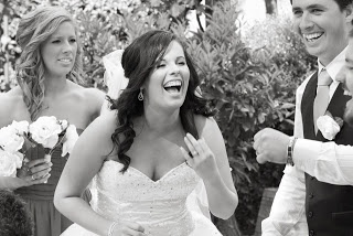 the most beautiful bride is a laughing bride
