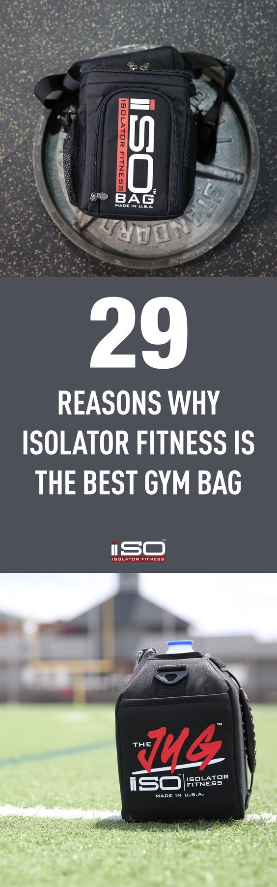29 Reasons Why Isolator Fitness Has the Best Gym Bag For You! #fitness #gym #bag #duffel #backpack #workout
