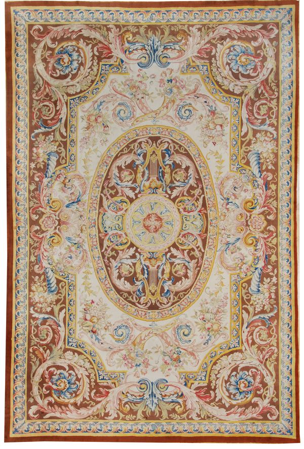 Savonnerie Rug,handmade In France. At Mansour.