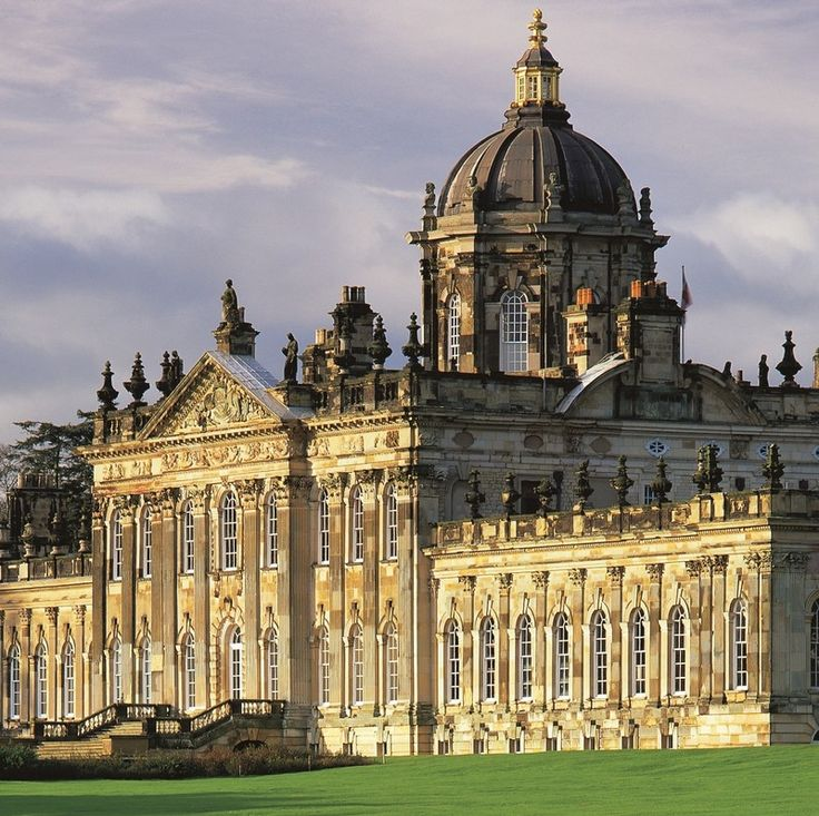 Castle Howard: exuberant Baroque stately home designed by Sir John Vanbrugh (assisted by Nicholas Hawksmoor) for the 3rd Earl of Carlisle and begun in 1699.