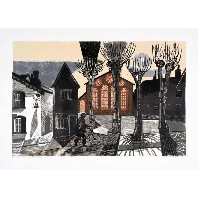 'Town Hall Yard' by Edward Bawden, 1956 (linocut)