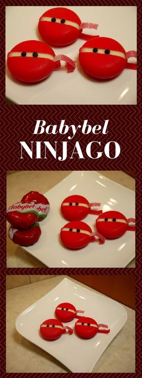 Themen Party Ninjago Cake Hier habe ich noch einen Nachrücker von der Ninjago Party von Moritz. Ich hatte dafür kleine süße Babybel Kug...