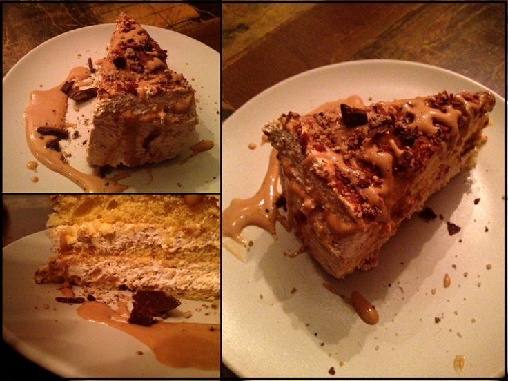 #biscuit #creme #cake with #coffee #caramel and dark chocolate.  who dare not to try it!? :D