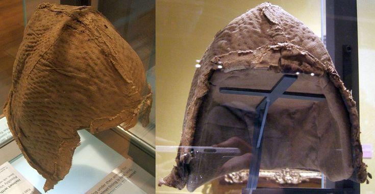 Padded helmet liner, 15th century, Kelvingrove Art Gallery and Museum, Glasgow, UK.