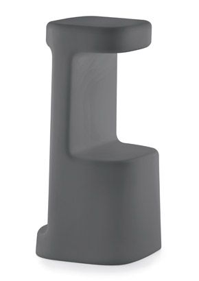 """Serif Modern Outdoor Bar Stool"".  An outdoor bar stool in polyethylene made with the rotational molding technology. It can be used with a high table or a bar-counter. Its unique design and range of colors create a young and exclusive tone.  Please contact us for pricing (718)363-3097."
