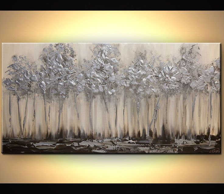 Εκτυπώσεις Ζωγραφική - Silver Forest # 7362