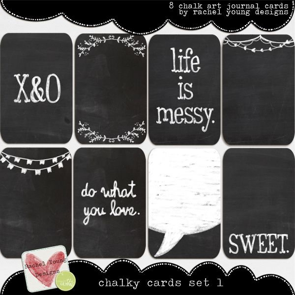 Chalkboard Project Life Cards-- The LilyPad