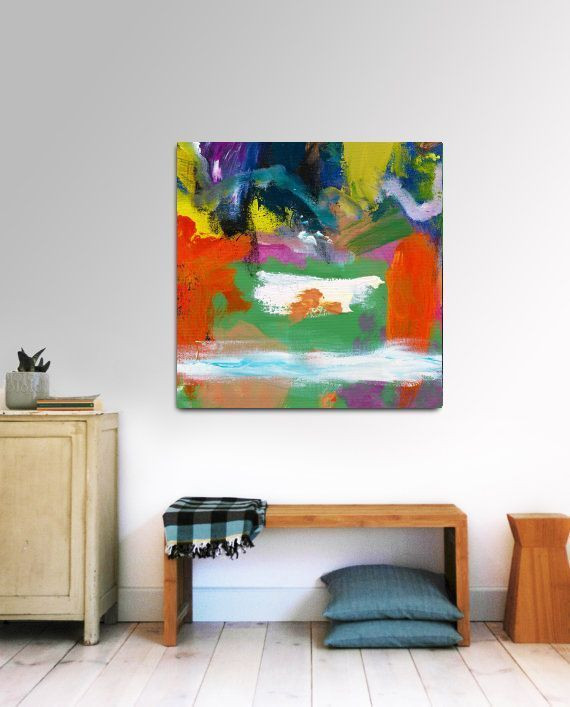 Modern Wall Art Abstract Acrylic Painting Canvas Buyart The Milk Pool