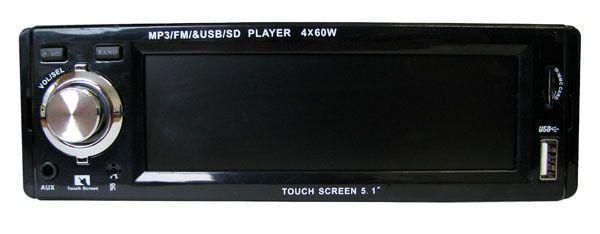 RADIO CAR TOUCH MP3 USB SD AUX PILOT