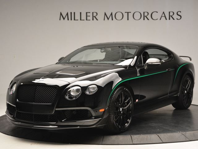 Would you buy a Bentley Continental GT3-R without back seats? One of the 300 units of GT3-R Bentley Continental is for sale in Connecticut. The vehicle is one of the 99 units made available for the US market and I covered in black gloss with racing stripes. The owner is asking $342,545 which is more expensive than a Continental v8 S. The GT3-R packs an...