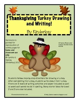 Students follow step by step directions for drawing a turkey. Following directions to create a project is a wonderful way to practice sequencing!...