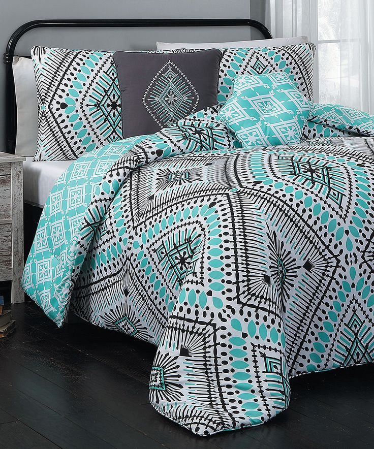 Look at this #zulilyfind! Teal Jada Five-Piece Comforter Set by Geneva Home Fashions #zulilyfinds