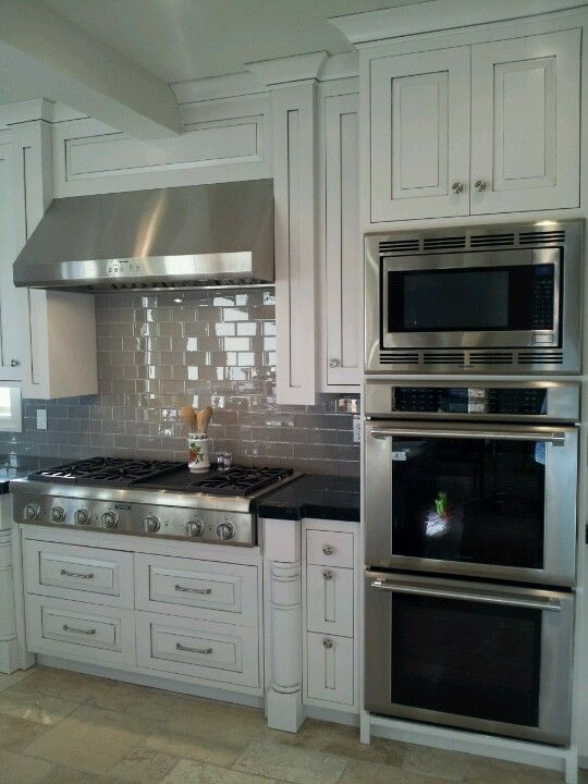 Custom Remodeled Kitchen Lovely Tile And Triple Wall Ovens!