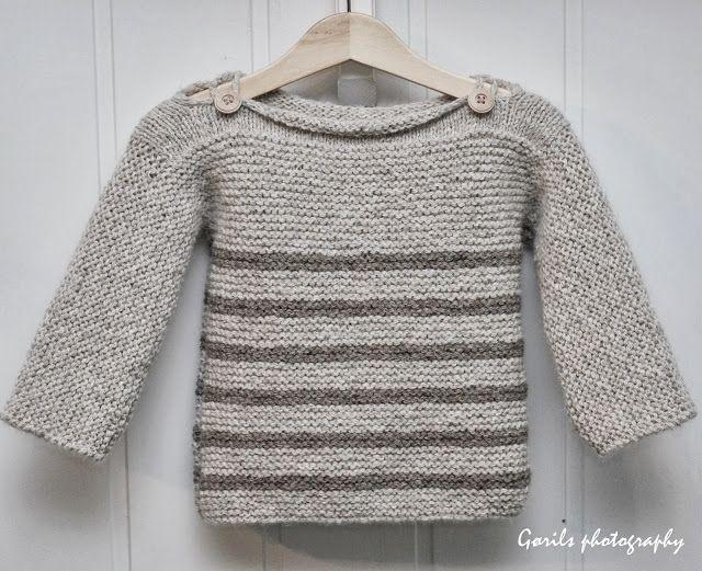 Theogenser | Fint stripemønster til denne genseren