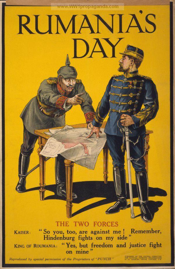 Propaganda from WW1 - Rumania's day.