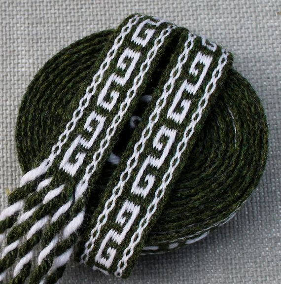 Inkle Weaving Medieval Trim Inkle Woven Hand Woven by inkleing, $28.00