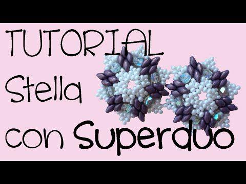 """TUTORIAL """"Fiocco di Neve"""". ORECCHINI con le SUPERDUO - YouTube"""
