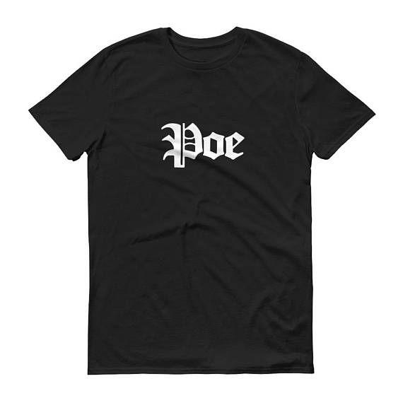 Edgar Allan Poe Tee Poe Shirt Edgar Poe Allan Poe Edgar Allan Poe Poe the Raven Poe and Raven Poe T Shirt Poe Gift Edgar Allen Poe  by 25VintagePlace