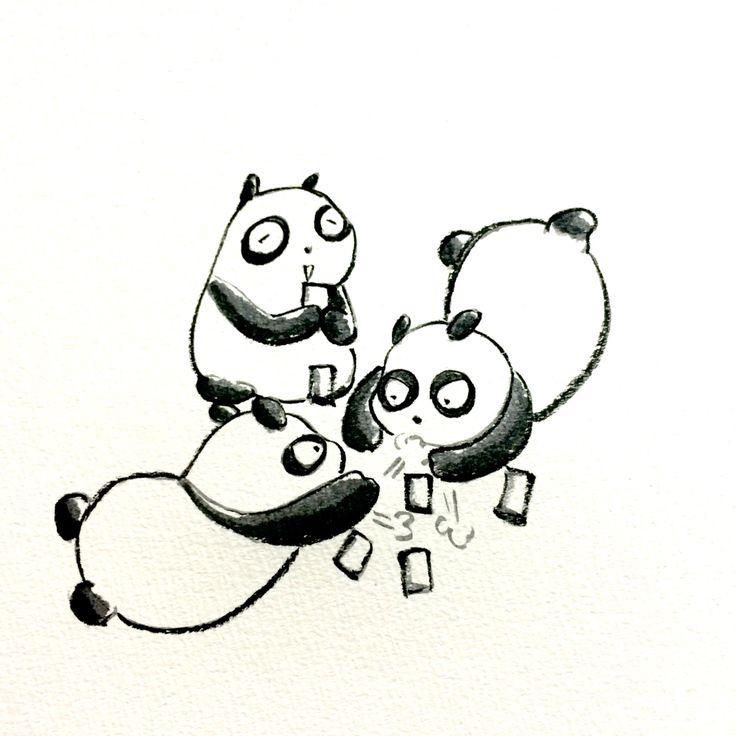 【一日一大熊猫】 2015.5.27 百人一首。 「有馬山 猪名の笹原 風吹けば いでそよ人を わすれやはする」 は、笹の葉がそよそよ音をたてるって歌だね。大まかに言うと。。。 #pandaJP #百人一首 http://osaru-panda.jimdo.com