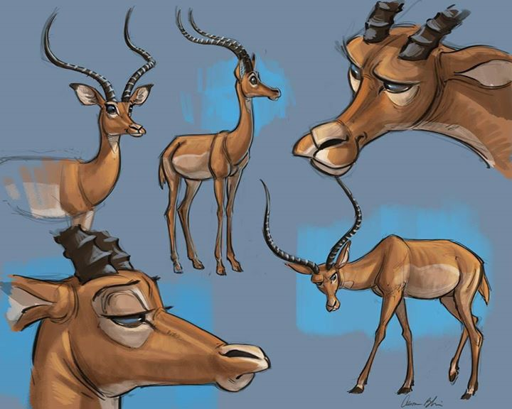 Back To Creating My Character Design Course Here I Had Some Fun Playing Around With An Impala