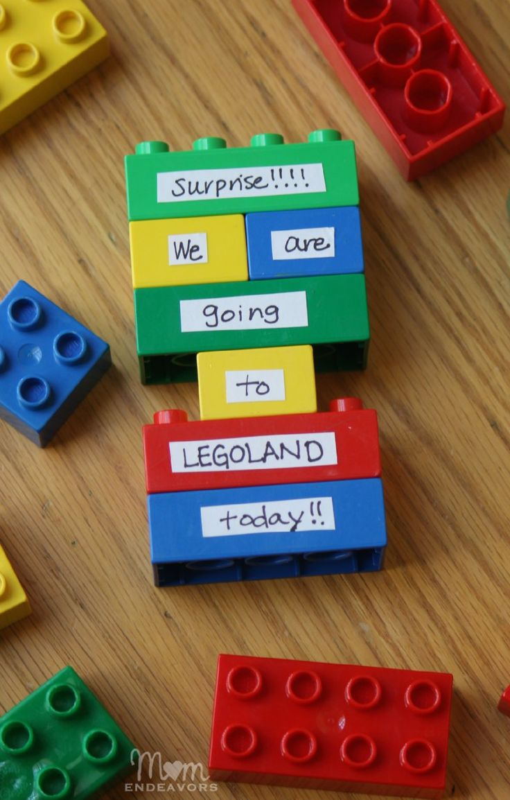 Easy Legoland DIY Lego Surprise