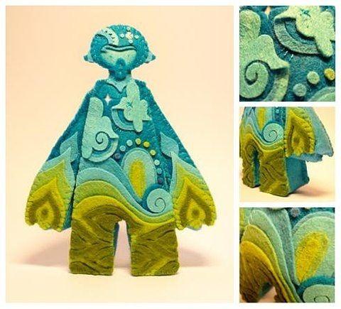 turquoise felt toy