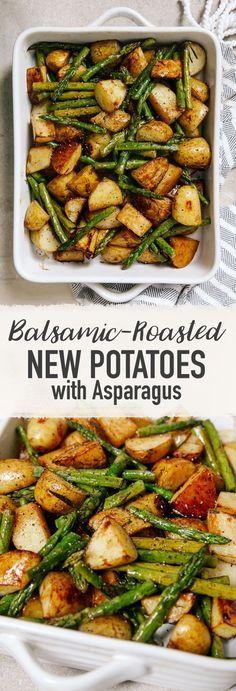 Balsamico-Bratkartoffeln mit Spargel   – food