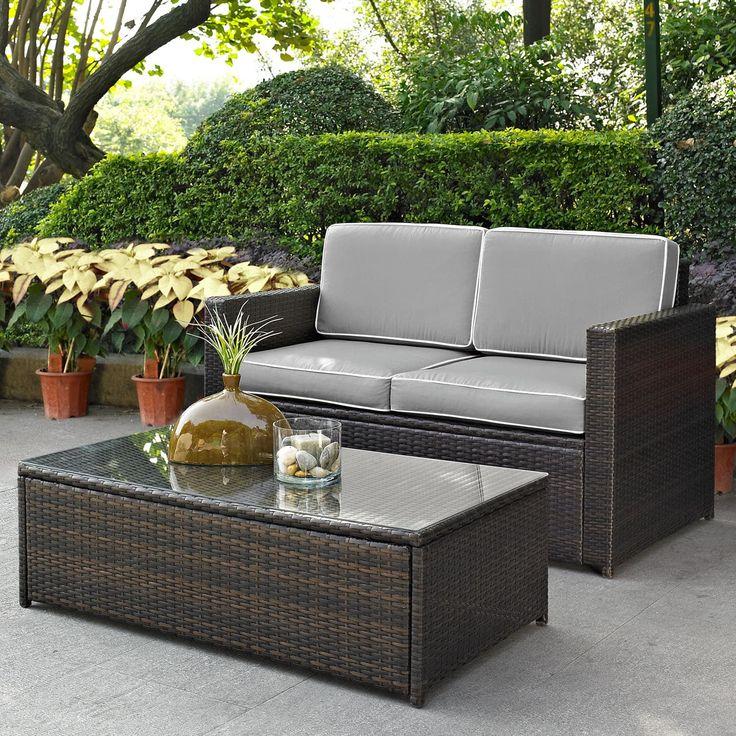 Crosley Furniture Palm Harbor Patio, Patio Sofa Table
