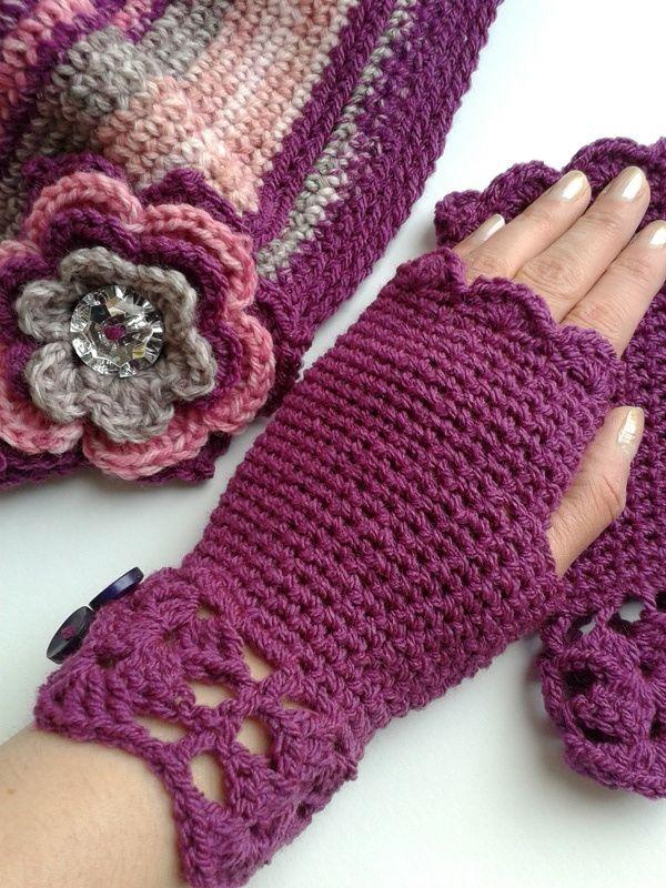 'Angel Delight' crocheted glovelets