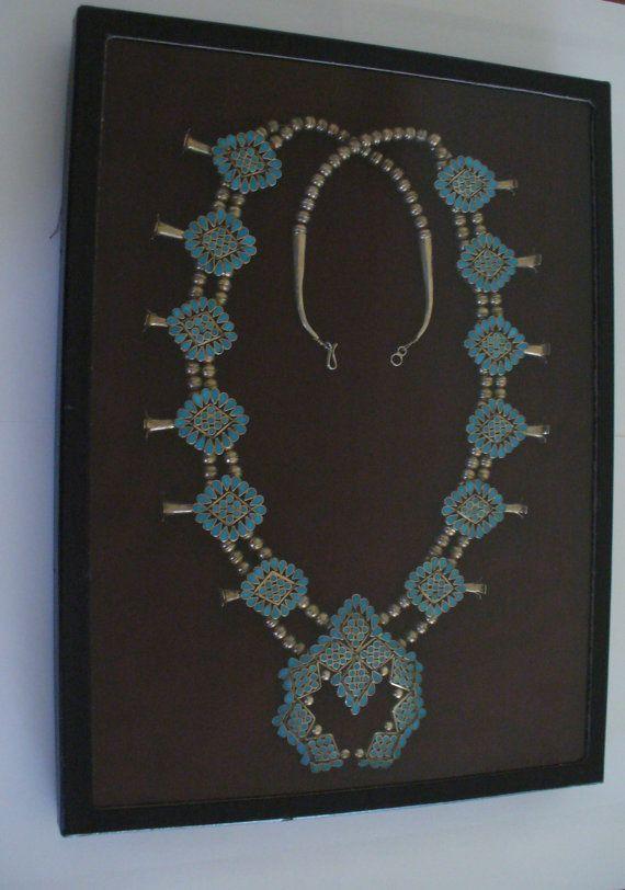 ON SALE Large Zuni Squash Blossom Necklace by LunaBellaForever