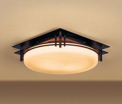 Hubbardton Forge 124394 2 Light Banded Flush Mount Ceiling Light