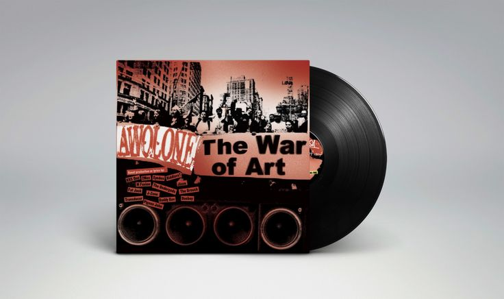"""Awol One – The War Of Art I got the honor to design the vinyl artwork for Awol Ones EP """"The War Of Art"""". One of those projects you just blast the record on repeat until its finished with your visual interpretation."""