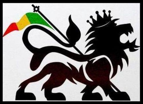 Rasta Lion stencil