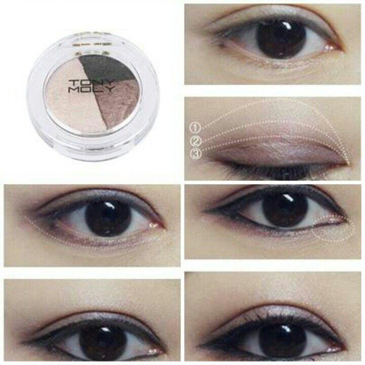 TONYMOLY how to do soft smoky eye make up - Korean Make Up