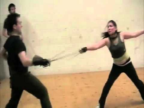 advanced small sword stage combat test - YouTube