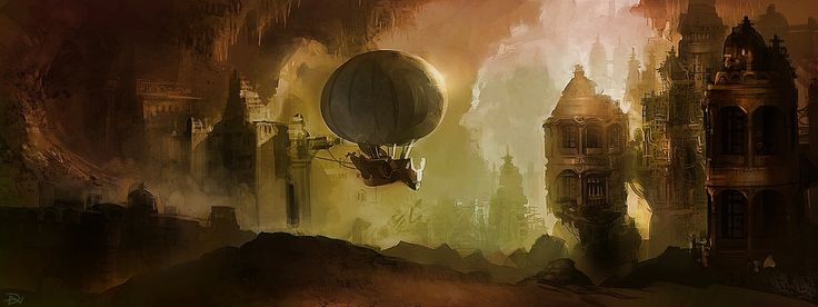 steampunk landscape by grimdreamart - photo #37