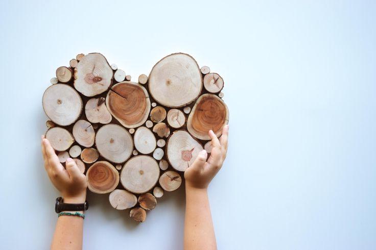 Aufgearbeiteten Holz Baum Slice-Skulptur aus von WildSliceDesigns
