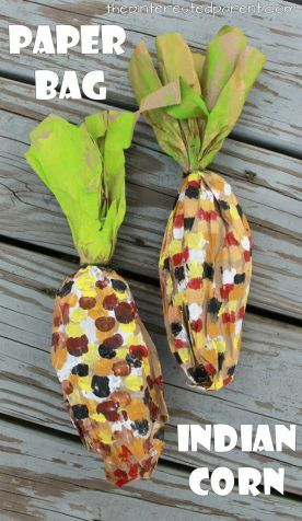 Paper Bag Indian Corn (from The Pinterested Parent)