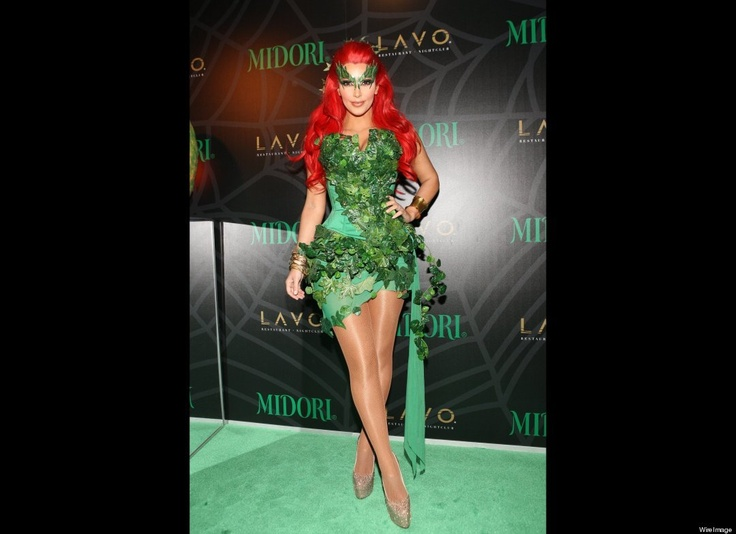 Kim Kardashian attends the Midori Green Halloween costume party as Poison Ivy at Lavo on October 29, 2011 in New York City. (Photo by Bennett Raglin/WireImage): Poison Ivy, Kimkardashian, Ivy Costume, Halloween Costumes, Kim Kardashian, Poisonivi, Halloween Ideas, Costumes Ideas, Poisons Ivy