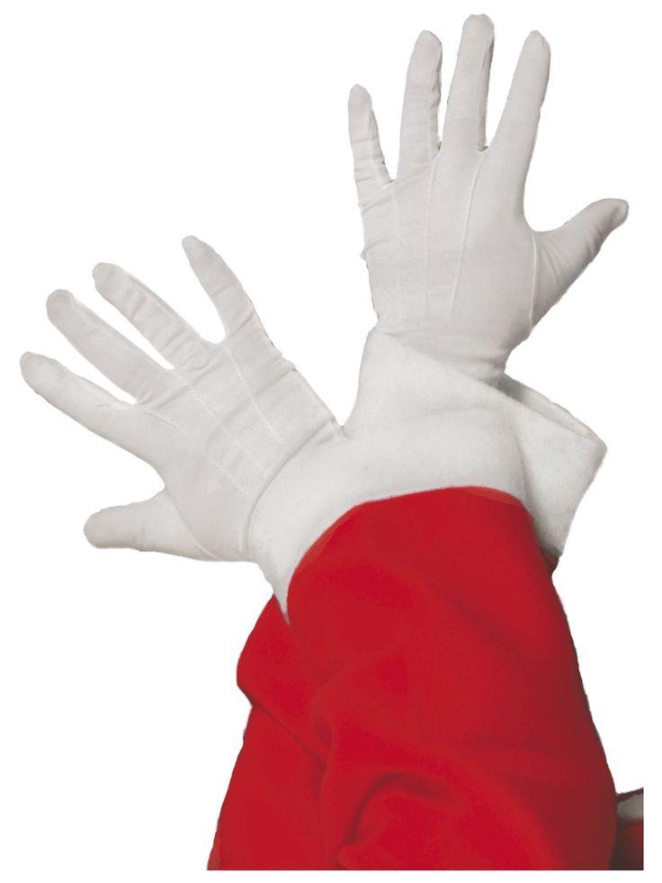 Gants blancs Père Noël adulte : Deguise-toi, achat de Accessoires