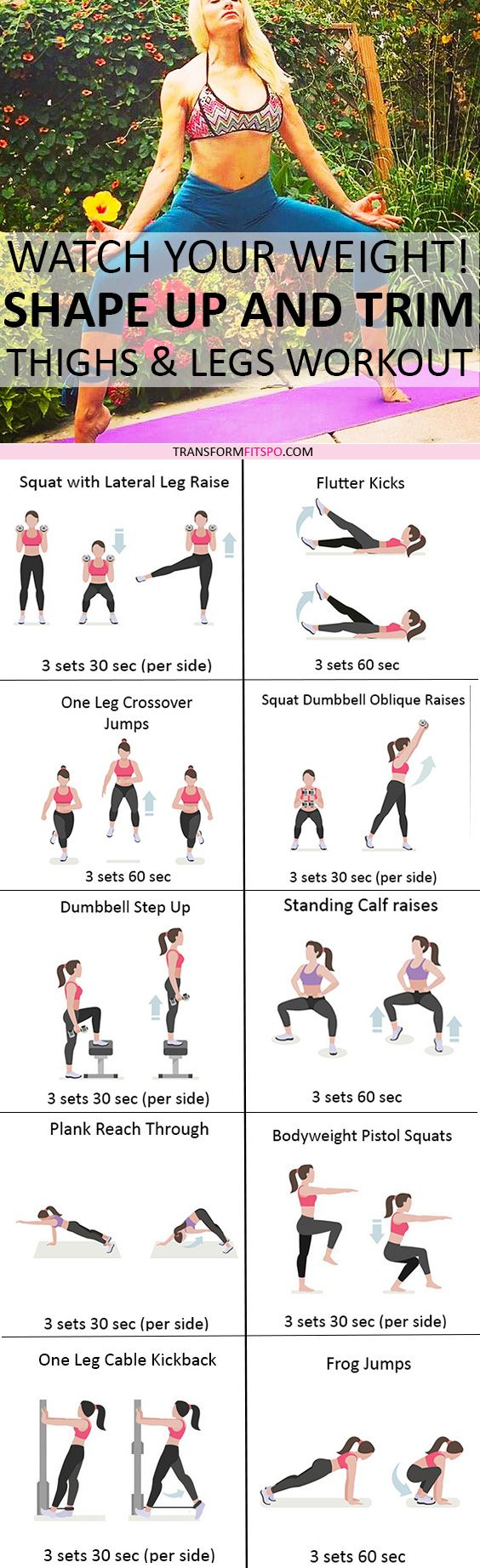 Repin and share if this workout gave you sexy, toned legs! Read the post for all the info!