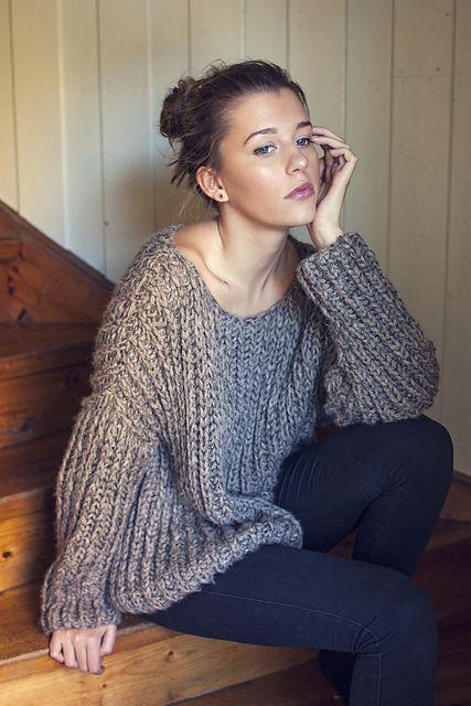 Ravelry: Ribbed Knit Sweater pattern by Katrine Hammer