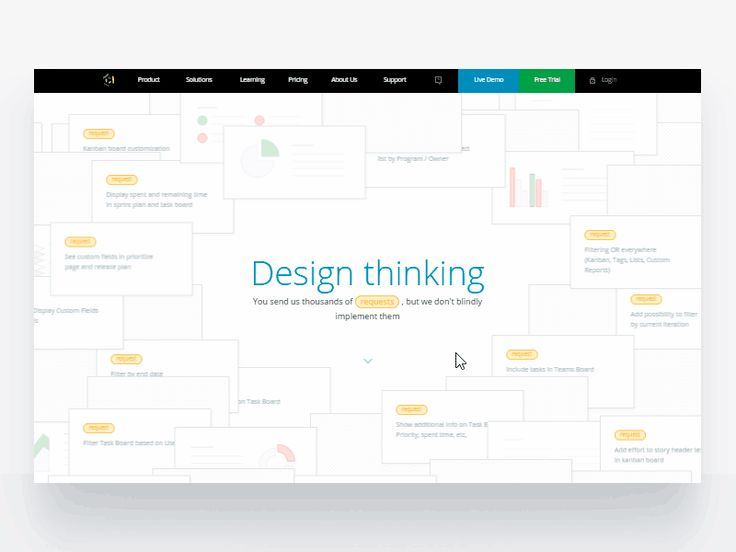 LIVE https://www.targetprocess.com/product-design/  We launched new product design page, presenting our complex approach to design application, based on user requests.