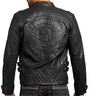 Affliction American Customs - ON FIRE - Men's Leather Biker Jacket  NEW - Black | Clothing, Shoes & Accessories, Men's Clothing, Coats & Jackets | eBay!