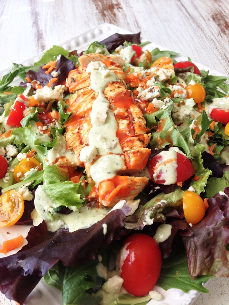 Best 25 buffalo chicken salads ideas on pinterest chicken bar skinny grilled buffalo chicken salad avocado ranch forumfinder Choice Image