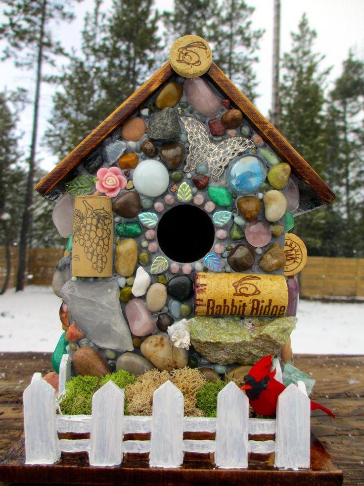 The 25 best Wine cork birdhouse ideas on Pinterest Bird house