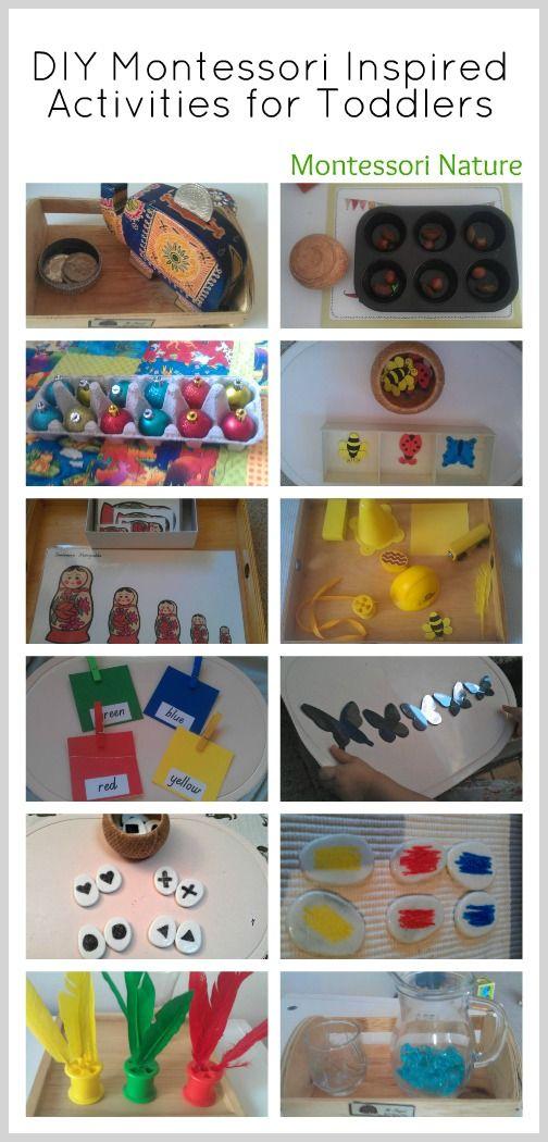 DIY Montessori Inspired Activities for Toddlers via Montessori Nature Blog