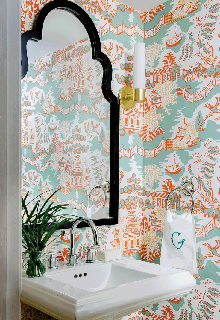The Do S And Don Ts Of Using Wallpaper In Your Powder Room Powder Room Wallpaper Room Wallpaper Unique Interior Design